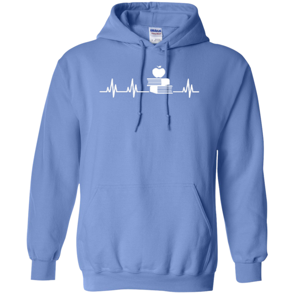 Teacher Heartbeat T-shirt Hoodies - TeachersLoungeShop - 8