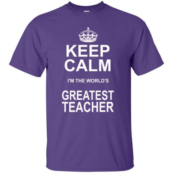 Keep Calm i'm the World's Greatest Teacher T-shirt Hoodie - TeachersLoungeShop - 3