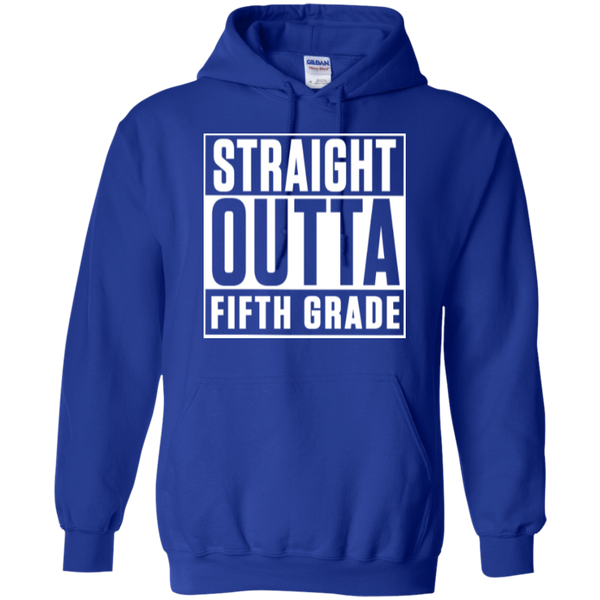 Straight Outta Fifth Grade  Hoodie 8 oz - TeachersLoungeShop - 12