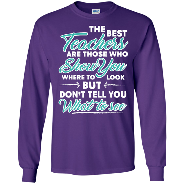The Best Teachers are those who show you Ultra Cotton Tshirt - TeachersLoungeShop - 9