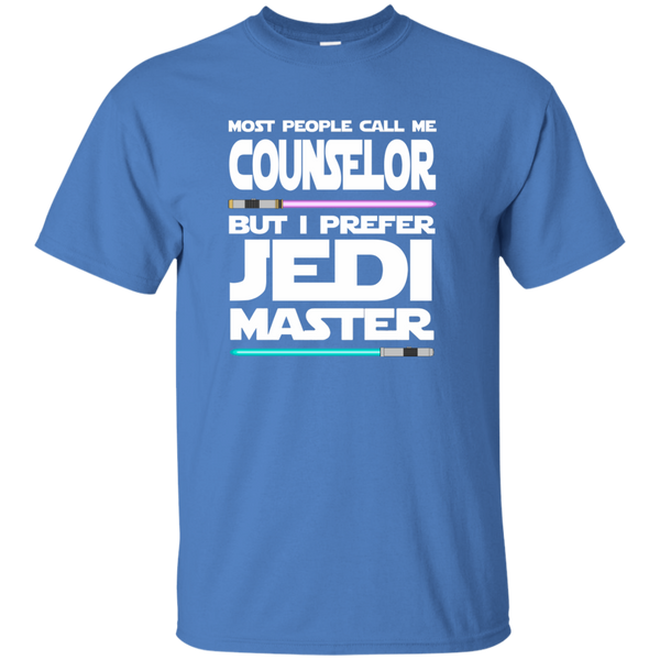 Most People Call Me Counselor But I Prefer Jedi Master Cotton T-Shirt - TeachersLoungeShop - 5