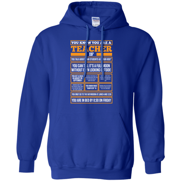You know You are a Teacher if  Hoodie 8 oz - TeachersLoungeShop - 10