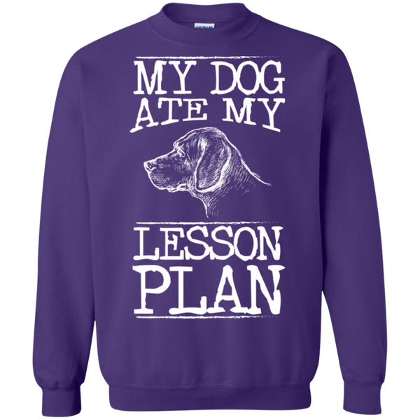 My Dog Ate my Lesson Plan Crewneck Pullover Sweatshirt  8 oz - TeachersLoungeShop - 7