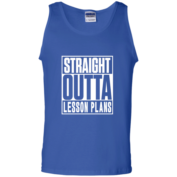 Straight Outta Lesson Plans 100% Cotton Tank Top - TeachersLoungeShop - 4