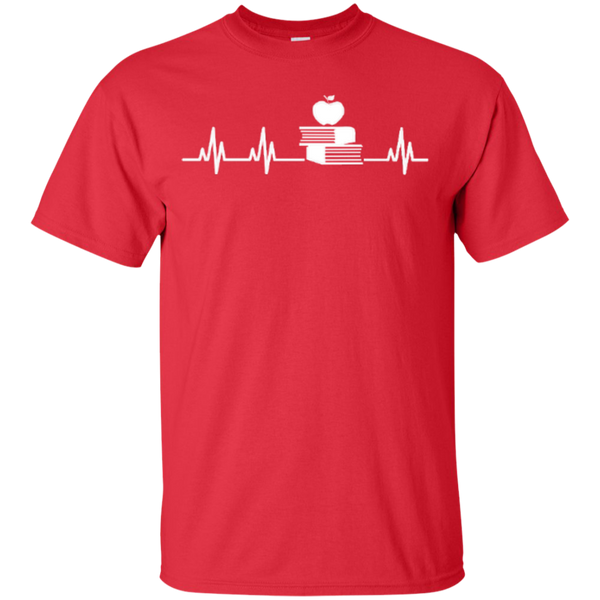 Teacher Heartbeat T-shirt Hoodies - TeachersLoungeShop - 2