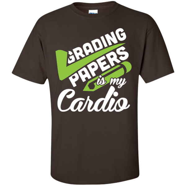 Grading papers is my cardio Cotton T-Shirt - TeachersLoungeShop - 6