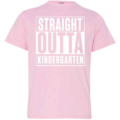 Straight outta Kindergarten   LAT Youth Jersey T-Shirt