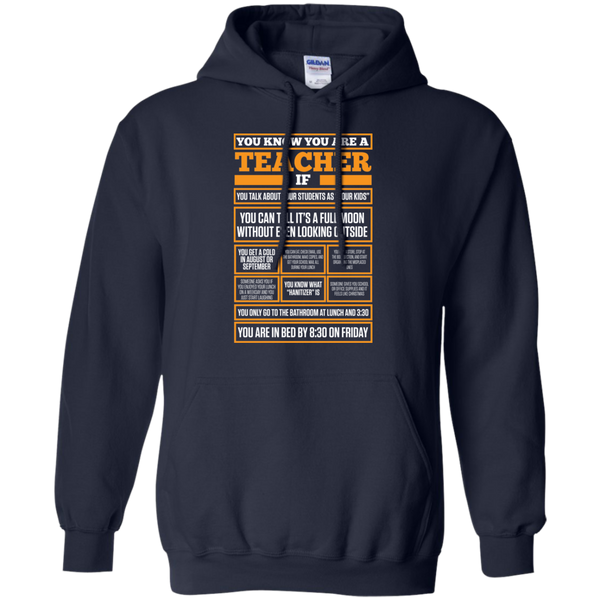 You know You are a Teacher if  Hoodie 8 oz - TeachersLoungeShop - 2
