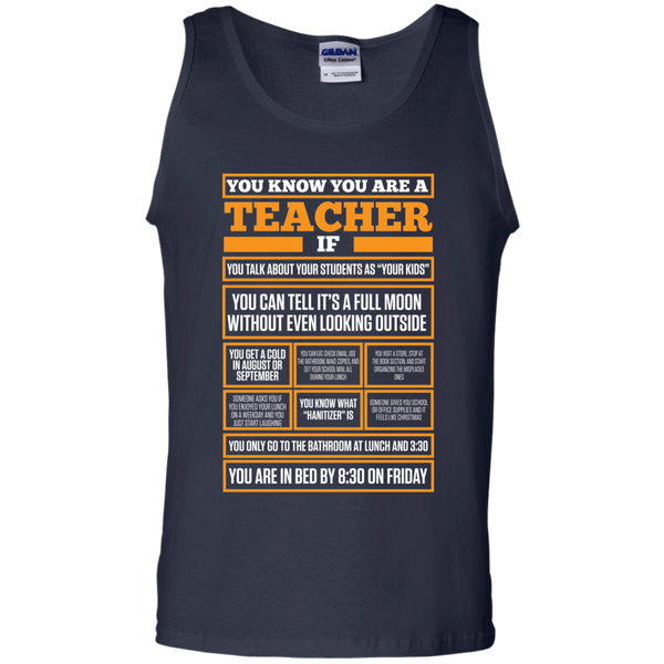 You know You are a Teacher if  100% Cotton Tank Top - TeachersLoungeShop - 2