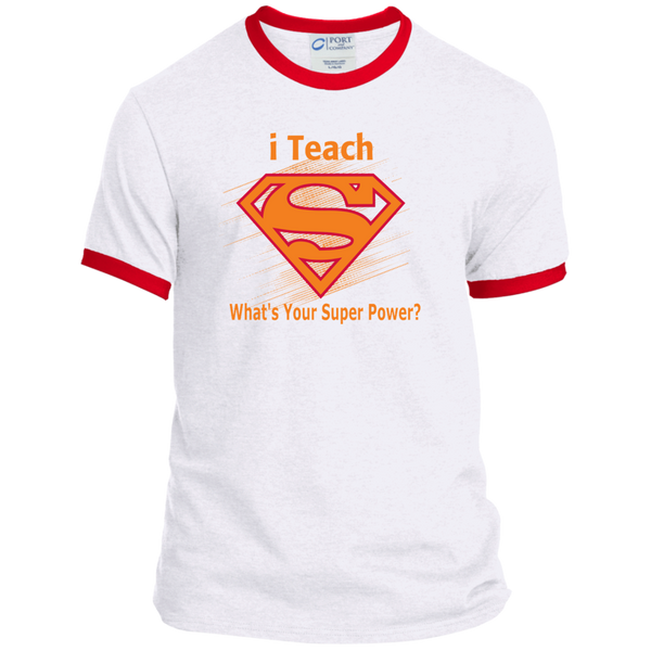 i Teach What's Your Superpower Ringer Tee - TeachersLoungeShop - 5