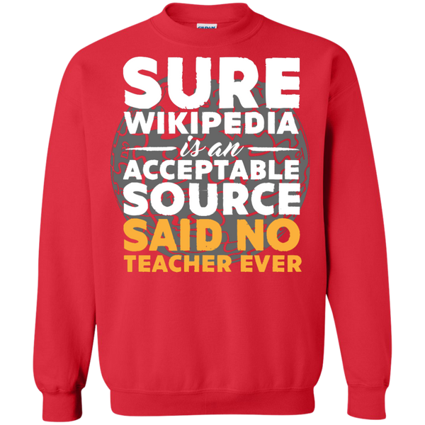 Printed Crewneck Pullover Sweatshirt  8 oz - TeachersLoungeShop - 4
