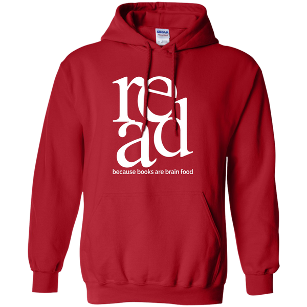 Read Because Books Are Brain Food Pullover Hoodie 8 oz - TeachersLoungeShop - 11