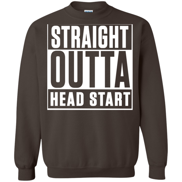Straight Outta Head Start  Crewneck Pullover Sweatshirt  8 oz - TeachersLoungeShop - 7