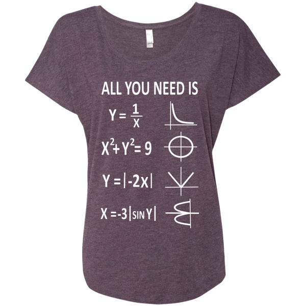 All You Need is Love Next Level Ladies Triblend Dolman Sleeve - TeachersLoungeShop - 6