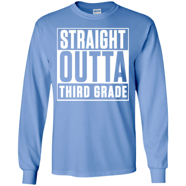 Straight Outta Third Grade LS Cotton Tshirt - TeachersLoungeShop - 9