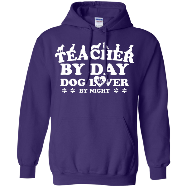 Teacher By Day Dog Lover by Night  Hoodie 8 oz - TeachersLoungeShop - 10