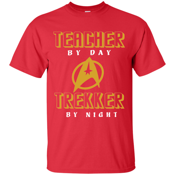 Teacher By Day Trekker By Night Cotton T-Shirt - TeachersLoungeShop - 8