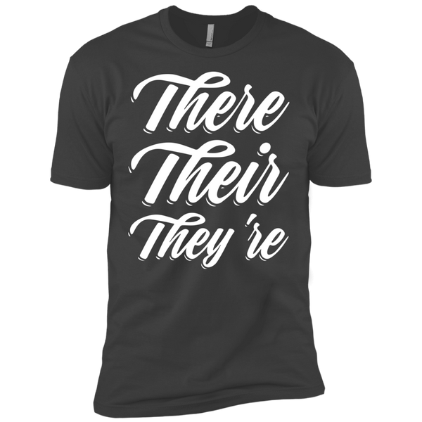 They Their They're  Next Level Premium Short Sleeve Tee - TeachersLoungeShop - 4