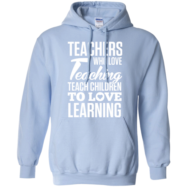 Teachers who love teaching  Hoodie 8 oz - TeachersLoungeShop - 6