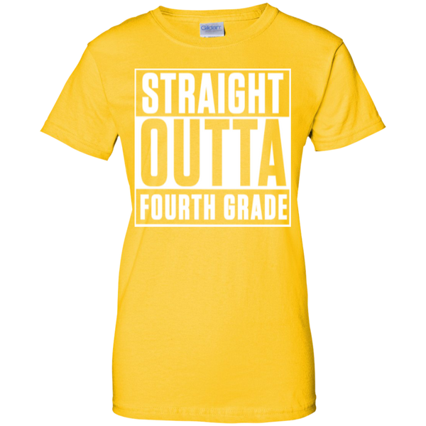 Straight Outta Fourth Grade  100% Cotton T-Shirt - TeachersLoungeShop - 3