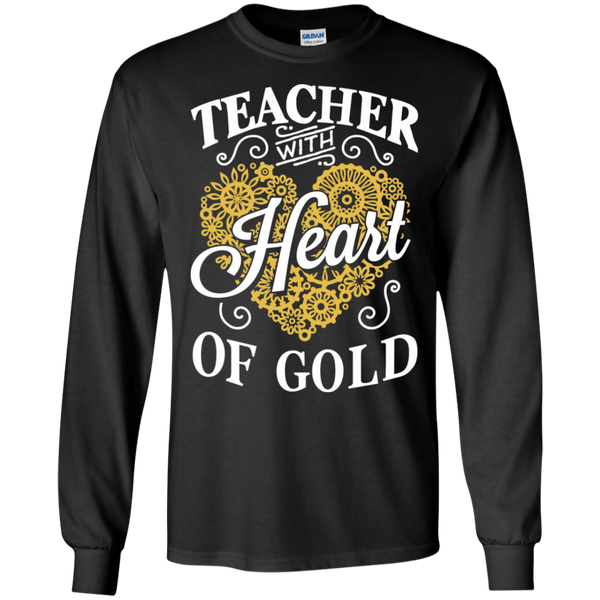 Teacher with Heart of Gold  Ultra Cotton Tshirt - TeachersLoungeShop - 1