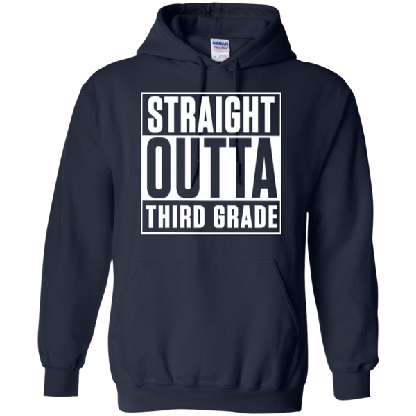 Straight Outta Third Grade  Hoodie 8 oz - TeachersLoungeShop - 2