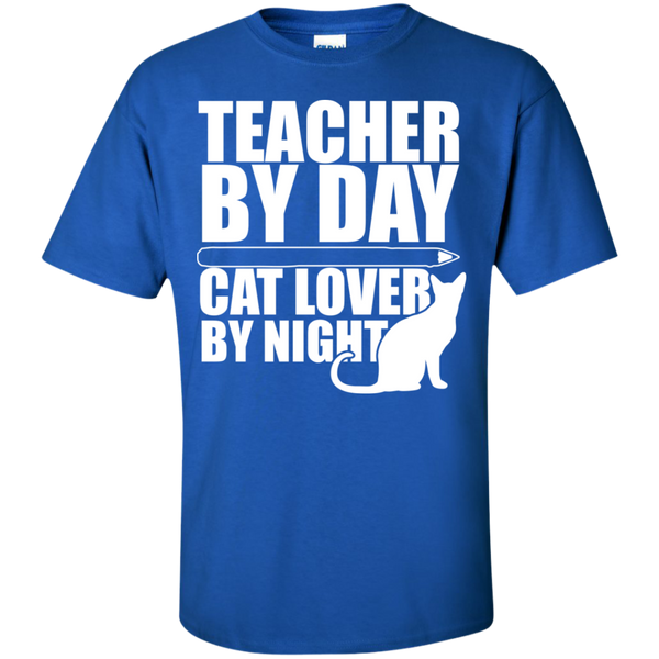 Teacher by Day Cat Lover by Night  T-Shirt - TeachersLoungeShop - 4