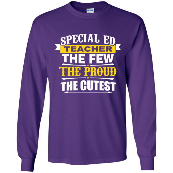 Special Ed Teacher The Few The Proud The Cutest LS Ultra Cotton Tshirt - TeachersLoungeShop - 11