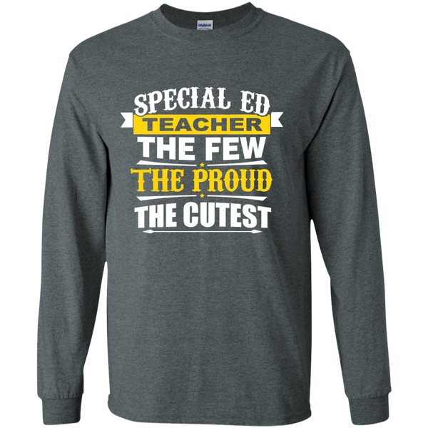 Special Ed Teacher The Few The Proud The Cutest LS Ultra Cotton Tshirt - TeachersLoungeShop - 6