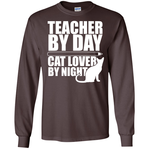 Teacher by Day Cat Lover by Night Ultra Cotton Tshirt - TeachersLoungeShop - 3