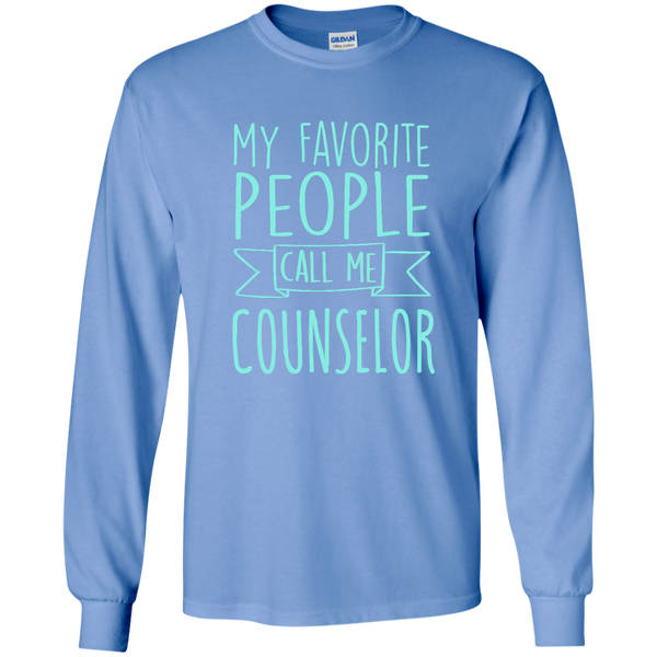 My Favorite People call Me Counselor LS Ultra Cotton Tshirt - TeachersLoungeShop - 3