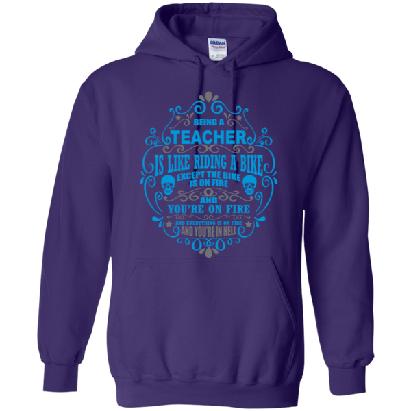 Being a Teacher is like Riding a Bike Teacher T-shirt Hoodie - TeachersLoungeShop - 11
