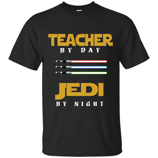Teacher by Day Jedi by Night Cotton T-Shirt - TeachersLoungeShop - 1