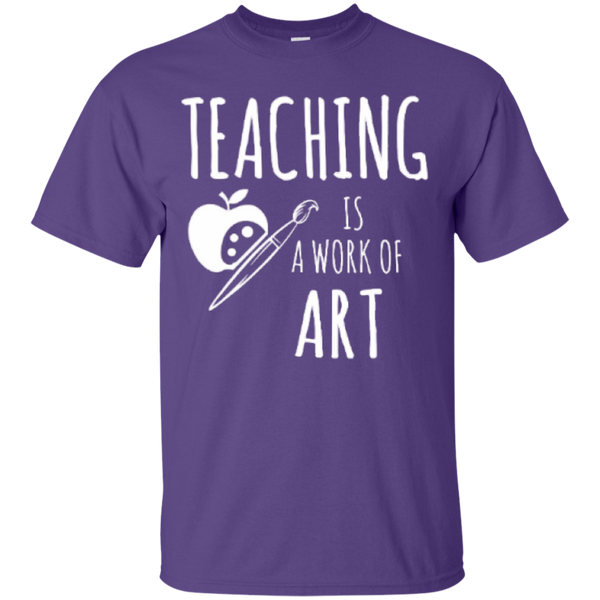 Teaching is a Work of Art Teacher T-shirt Hoodie - TeachersLoungeShop - 3