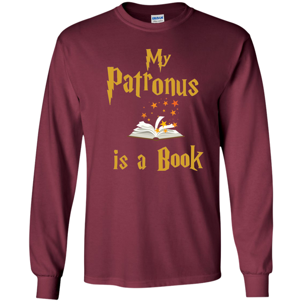 My Patronus is a Book LS Ultra Cotton Tshirt - TeachersLoungeShop - 7