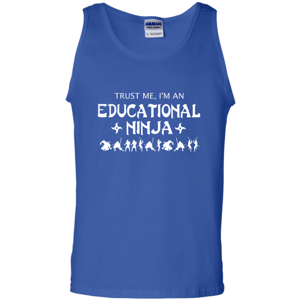 Trust Me I'm An Educational Ninja 100% Cotton Tank Top - TeachersLoungeShop - 4