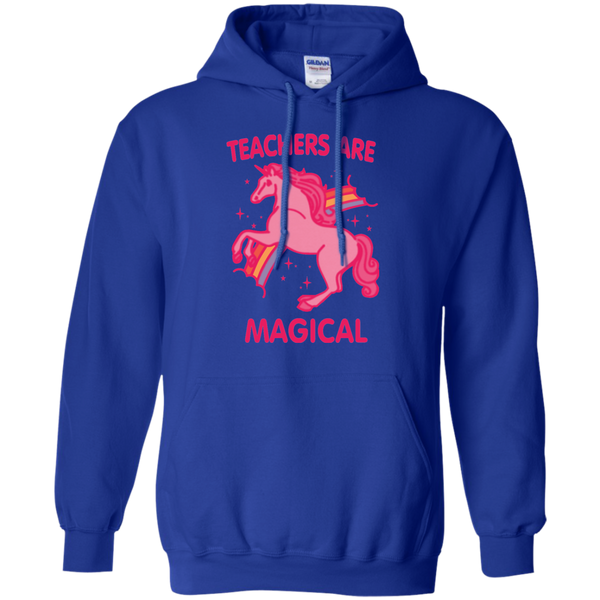 Teachers are Magical Pullover Hoodie 8 oz - TeachersLoungeShop - 12
