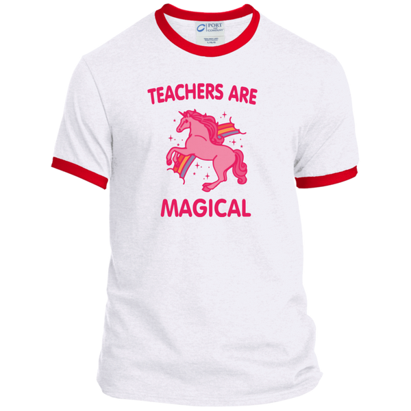Teachers are Magical Ringer Tee - TeachersLoungeShop - 4
