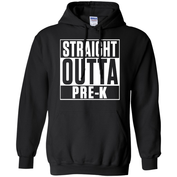 Straight Outta Pre-K   Hoodie 8 oz - TeachersLoungeShop - 1