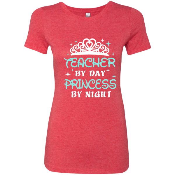 Teacher By Day Princess By Night ver2 Next Level Ladies Triblend T-Shirt - TeachersLoungeShop - 5