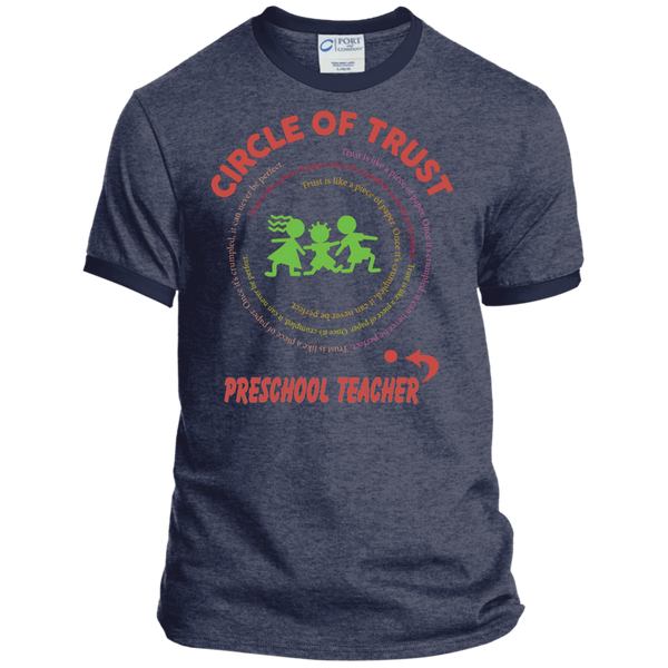 Preschool Teacher Circle of Trust Ringer Tee - TeachersLoungeShop - 5