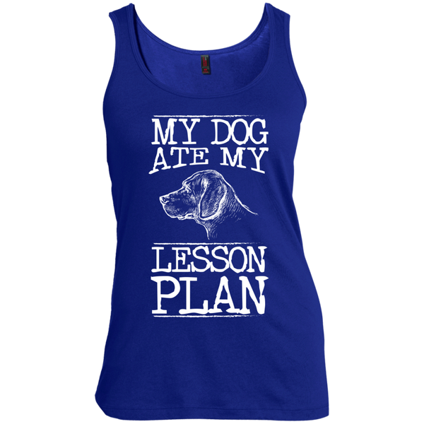 My Dog Ate my Lesson Plan   Scoop Neck Tank Top - TeachersLoungeShop - 6