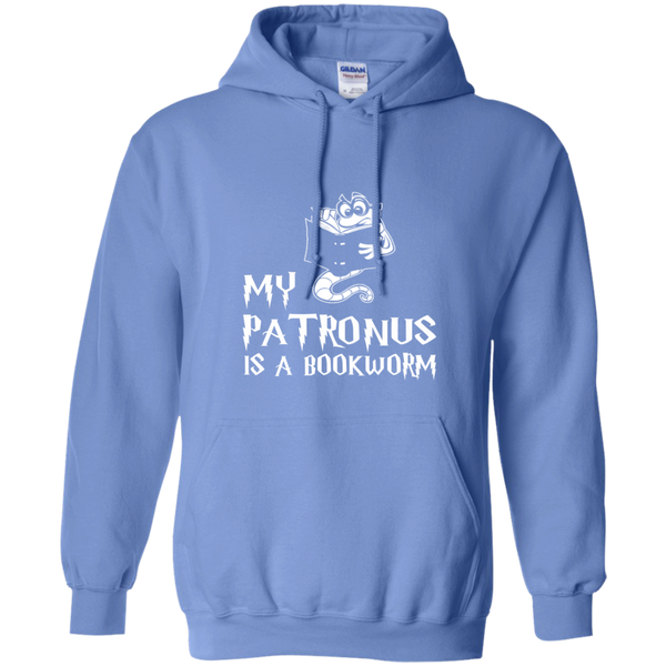 My Patronus is a Book Worm Pullover Hoodie 8 oz - TeachersLoungeShop - 10