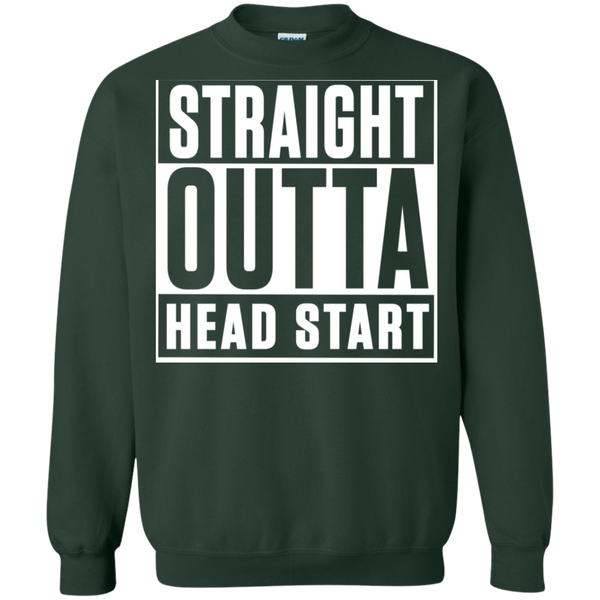 Straight Outta Head Start  Crewneck Pullover Sweatshirt  8 oz - TeachersLoungeShop - 5
