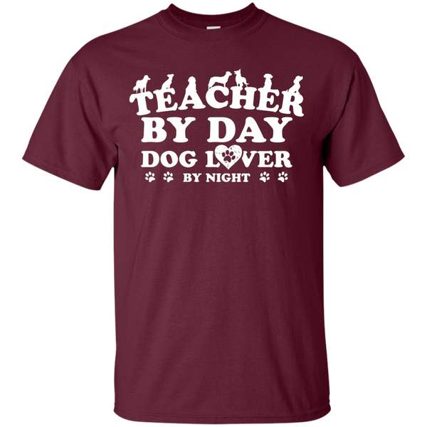 Teacher By Day Dog Lover by Night T-Shirt - TeachersLoungeShop - 3