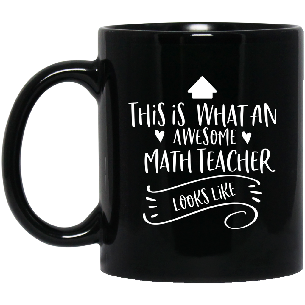 Awesome Math Teacher  11 oz. Black Mug