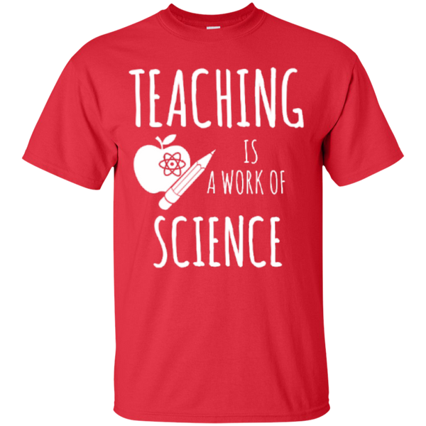 Teaching is a Work of Science Teacher T-shirt Hoodie - TeachersLoungeShop - 2
