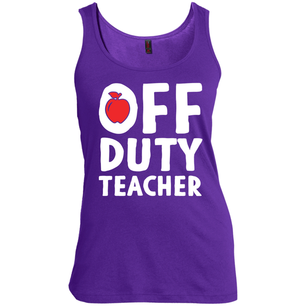 Off Duty Teacher Women's  Scoop Neck Tank Top - TeachersLoungeShop - 6