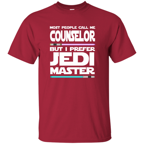 Most People Call Me Counselor But I Prefer Jedi Master Cotton T-Shirt - TeachersLoungeShop - 4