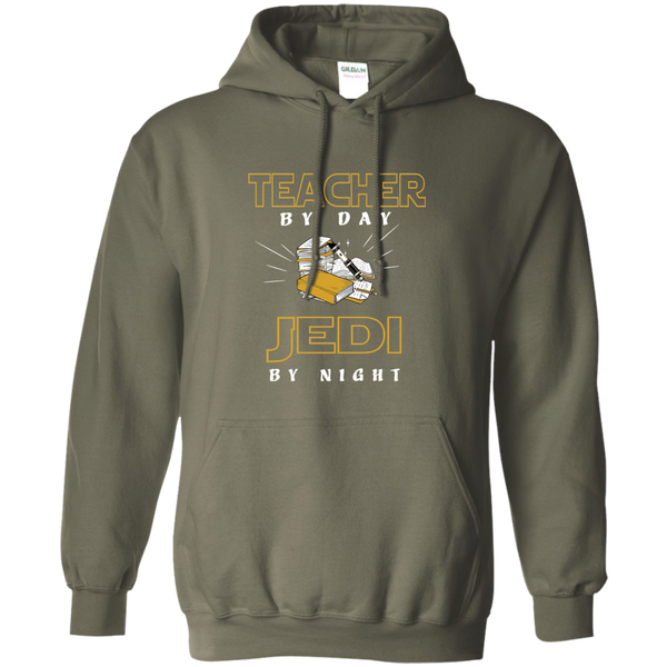 Teacher By Day Jedi By Night Ver2 Pullover Hoodie 8 oz - TeachersLoungeShop - 8